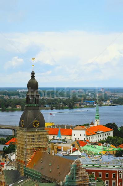 リガ ラトビア 市 教会 建物 都市 ストックフォト © SRNR