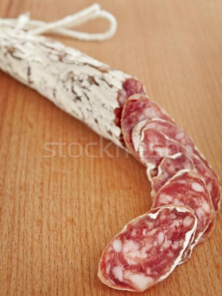 Stockfoto: Salami · ondiep · vet · worst