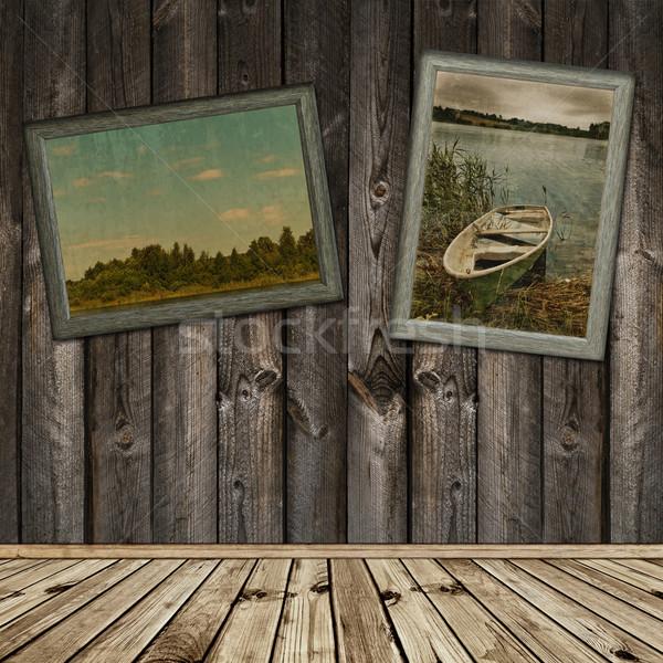 ストックフォト: 木製 · インテリア · 古い · フレーム · 写真 · 自然