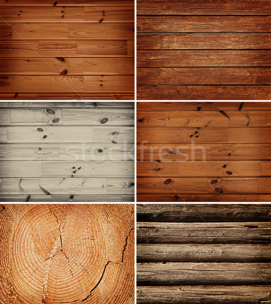 Stock photo: wooden backgrounds