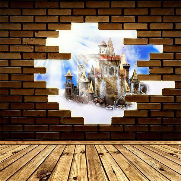 castle in wall Stock photo © SRNR