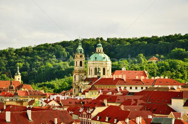 Сток-фото: Прага · плиточные · старые · домах · Чешская · республика