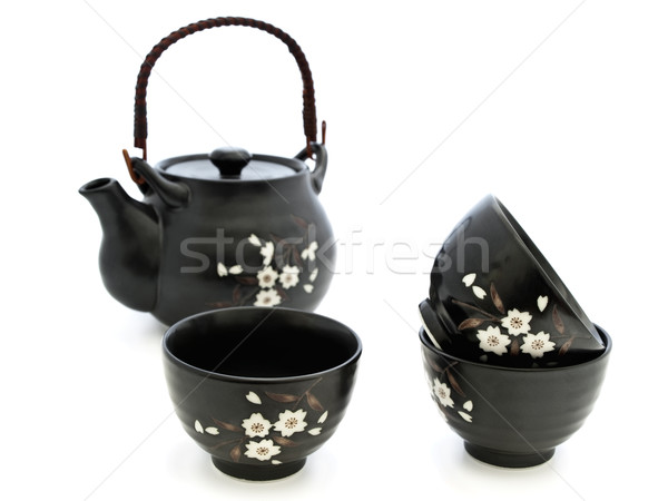Stockfoto: Thee · ceremonie · China · tafelgerei · chinese · witte