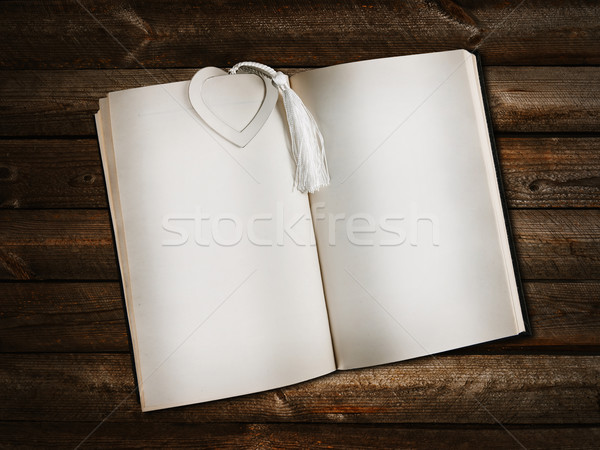 open book with heart bookmark Stock photo © SRNR