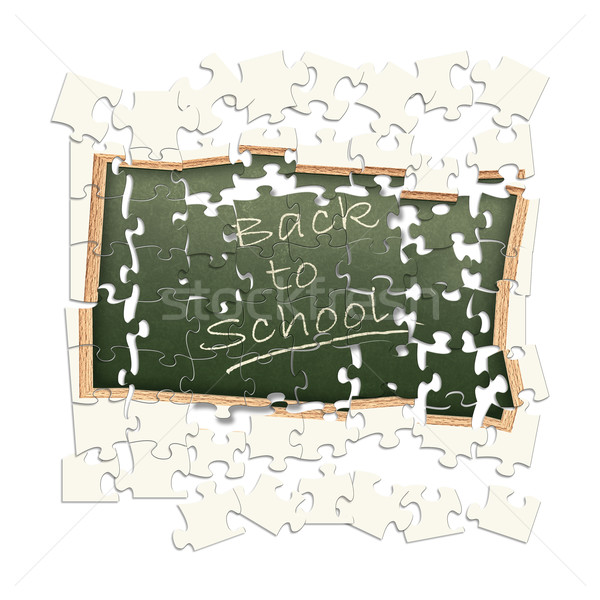 puzzled theme 'Back to school!' Stock photo © SRNR