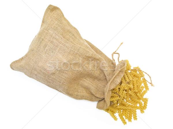 Sack of pasta against the white background Stock photo © SRNR