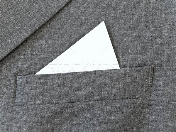 Close up suit pocket with white handkerchief Stock photo © SRNR