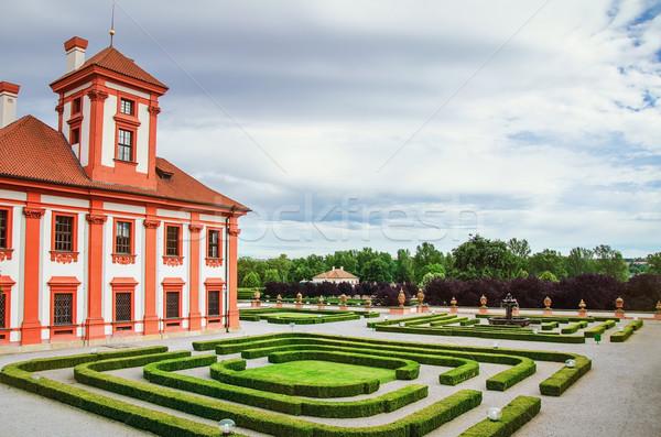парка зеленый декоративный здании домой саду Сток-фото © SRNR