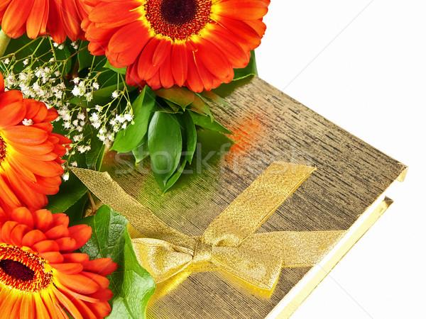 gerberas with giftbox Stock photo © SRNR