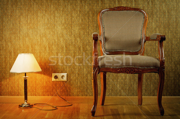 Lamp And Armchair Stock photo © SRNR