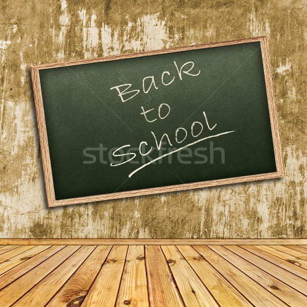Stockfoto: Terug · naar · school · foto · abstract · interieur · school · Blackboard