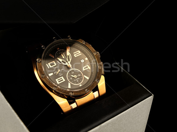 luxury man clock Stock photo © SRNR
