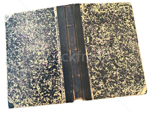Eski kitap beyaz kitap eğitim Retro model Stok fotoğraf © SRNR