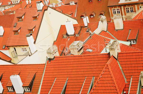 Roofs Of Prague Stock photo © SRNR