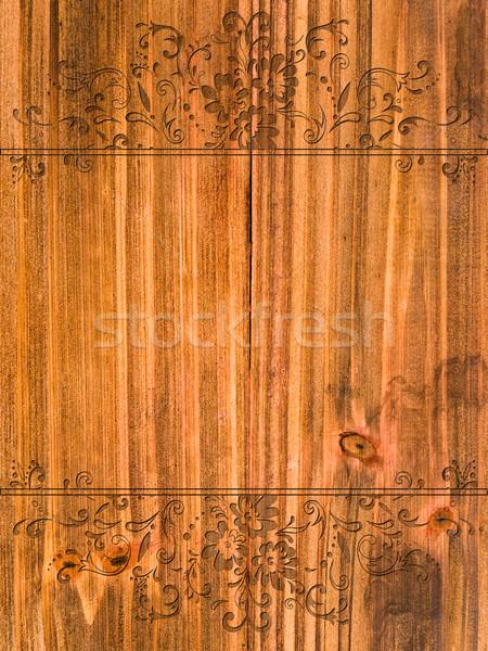Vintage frame floreale legno Foto d'archivio © SRNR