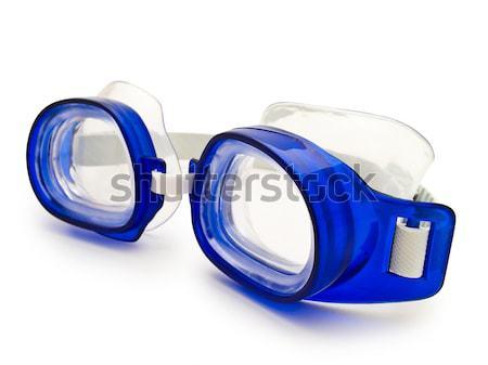 Natação óculos azul branco nadar segurança Foto stock © SRNR