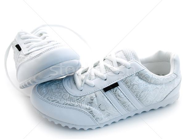 Corrida sapatos par branco esportes sapato Foto stock © SRNR