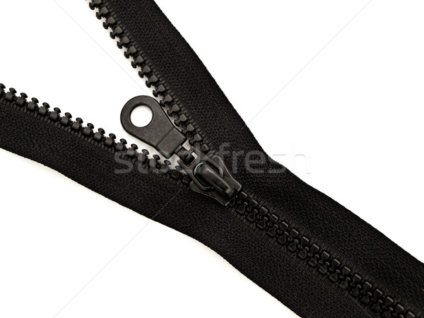 Rits zwarte plastic witte doek Stockfoto © SRNR