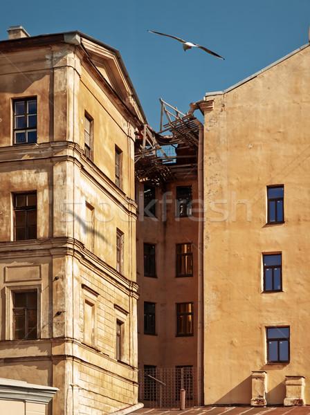 Régi épület öreg épületek orosz város központ Stock fotó © SRNR