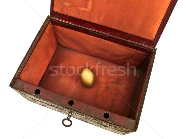 Velho peito ovo dourado abrir branco ovo Foto stock © SRNR