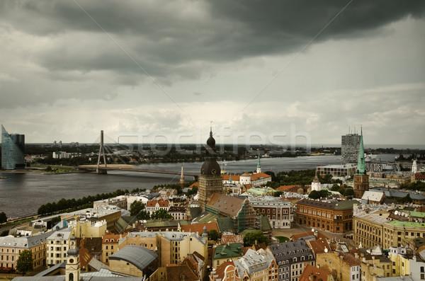 リガ ラトビア 教会 橋 建物 都市 ストックフォト © SRNR
