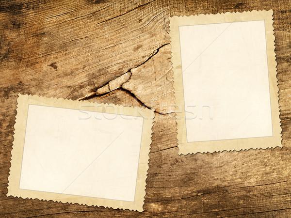 öreg fotók fából készült fa keret klasszikus Stock fotó © SRNR