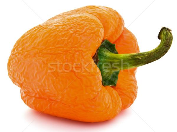 öreg ráncos narancs piros paprika fehér természet Stock fotó © SRNR