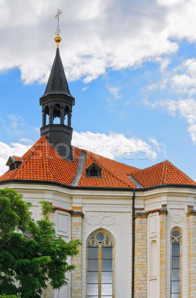 église ciel bleu Prague bâtiment Voyage architecture Photo stock © SRNR