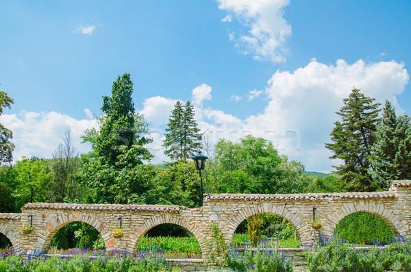 Ogrodzenie mur formularza ściany ogród kamień Zdjęcia stock © SRNR
