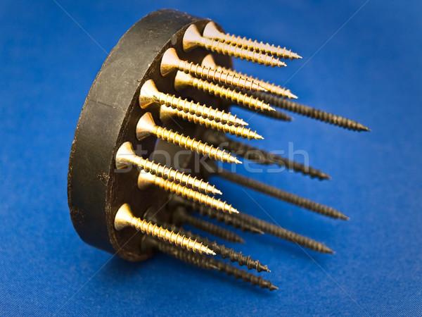 Magneet Blauw bouw metaal industriële tool Stockfoto © SRNR