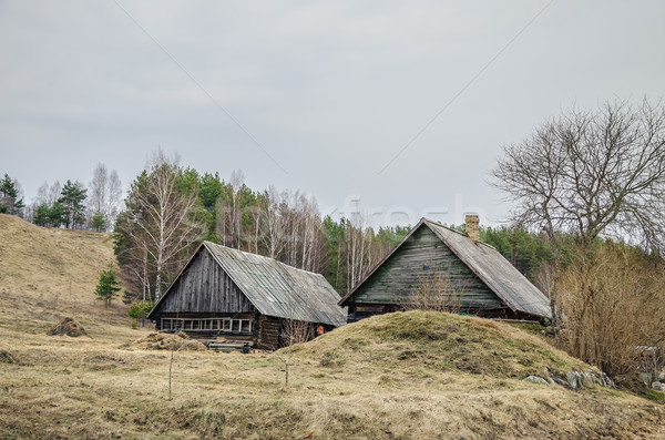 Old Wooden Houses  Stock photo © SRNR