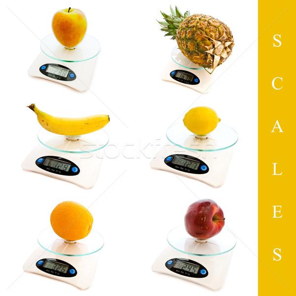Schalen ingesteld verschillend witte banaan Stockfoto © SRNR