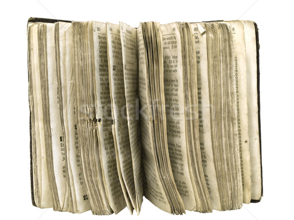 Isolated old book pages against the white background  Stock photo © SRNR
