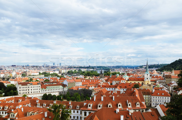 Görmek Prag gökyüzü şehir yaz seyahat Stok fotoğraf © SRNR