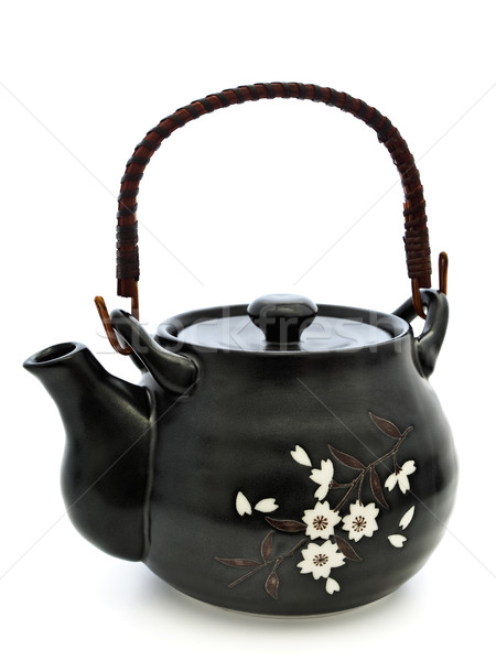 Stockfoto: Thee · ceremonie · China · theepot · chinese · witte