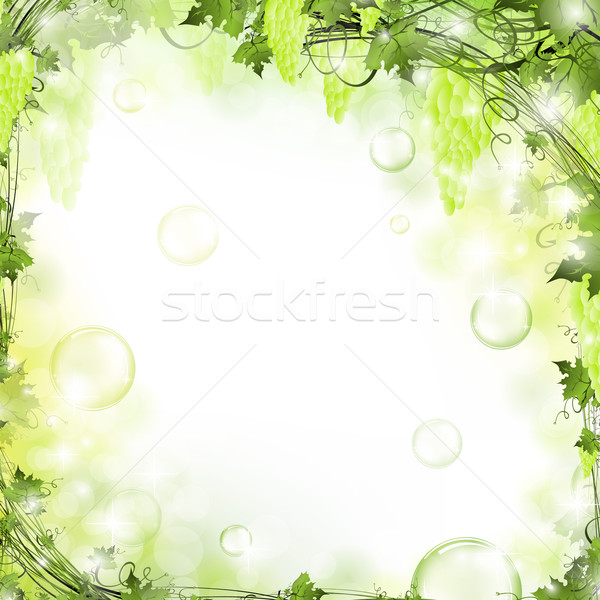 Stockfoto: Frame · natuur · lucht · bubbels · blad