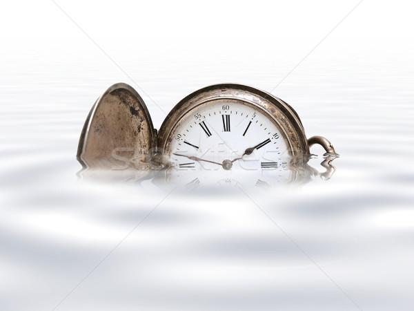 öreg zseb óra fehér kéz idő Stock fotó © SRNR