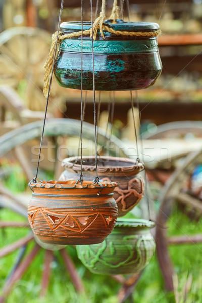 Flor enforcamento pote vazio cerâmica cerâmico Foto stock © SRNR