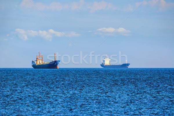 Vracht schepen zwarte zee water natuur Stockfoto © SRNR