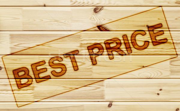 Membro melhor preço superfície madeira publicidade Foto stock © SRNR