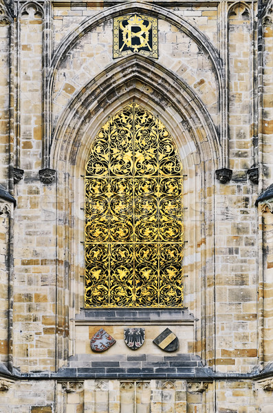 St. Vitus Cathedral Window Stock photo © SRNR