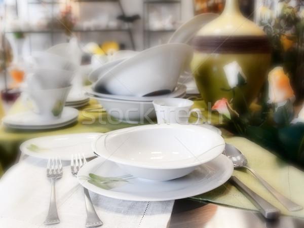 Lastre piatti store foto tavola coltello Foto d'archivio © SRNR