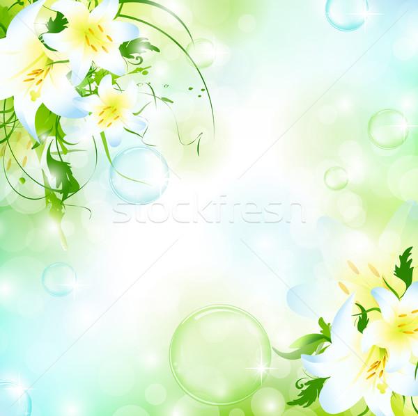 Zdjęcia stock: Kwiatowy · ramki · charakter · powietrza · pęcherzyki · streszczenie
