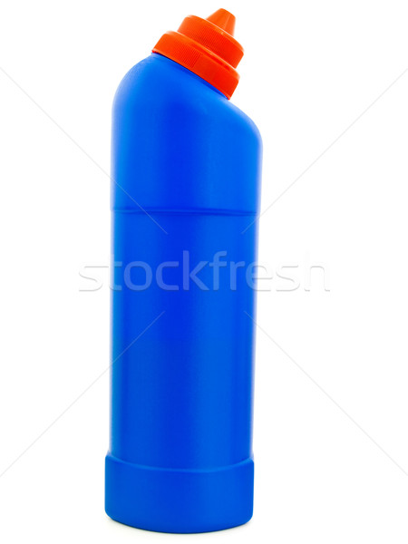 Detergente azul garrafa branco banheiro químico Foto stock © SRNR