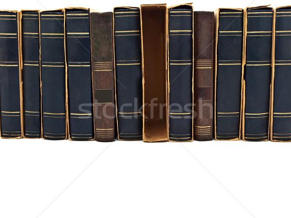 Kütüphane fotoğraf eski kitap beyaz bo Stok fotoğraf © SRNR