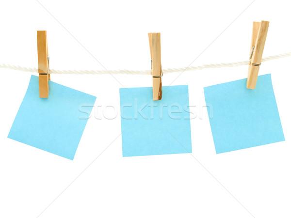 Kék jegyzetek szeg fehér út ötlet Stock fotó © SRNR