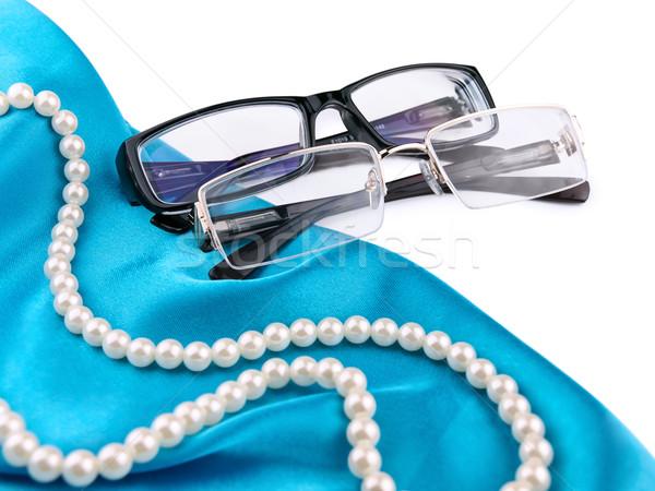 óculos par moderno elegante branco vidro Foto stock © SRNR