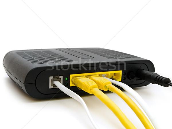Modem branco internet rede comunicação poder Foto stock © SRNR