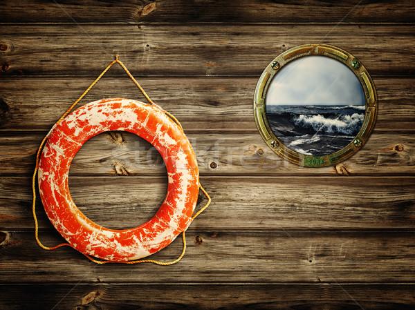 lifebuoy and porthole Stock photo © SRNR