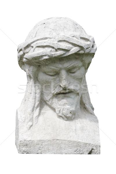 Sculptuur portret man witte standbeeld persoon Stockfoto © SRNR